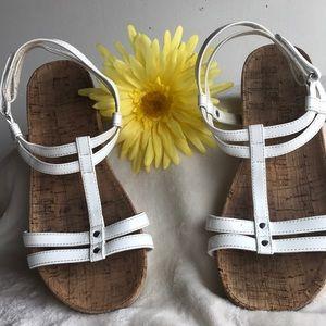 Lands'End White strap sandals